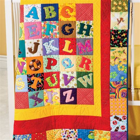 go alphabet soup quilt pattern any child would to