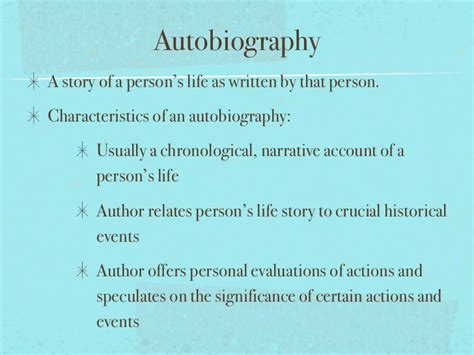 Characteristics Of Biography And Autobiography | nonfiction presentation notes