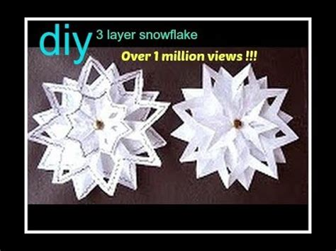 snowflake patterns youtube snowflake 4 3 layer snowflake paper folding christmas