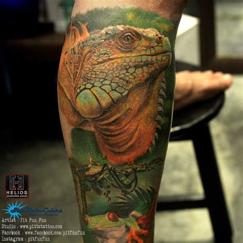 iguana tattoo pit tattoos certified artist
