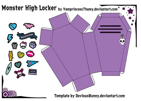 monster high locker papercraft by vrincessthamy on