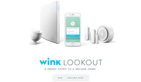 wink announces lookout a 199 home security system