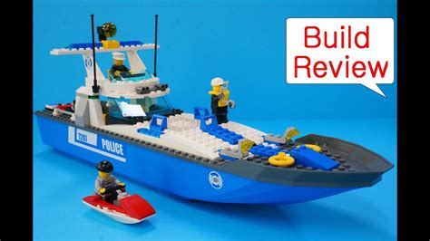 lego working boat lego police 7287 police boat stop motion build youtube