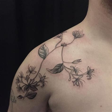 june flower tattoo best 25 honeysuckle ideas on