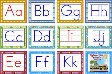 printable letters of the alphabet for word wall kelly and kim s kindergarten kreations markdown monday