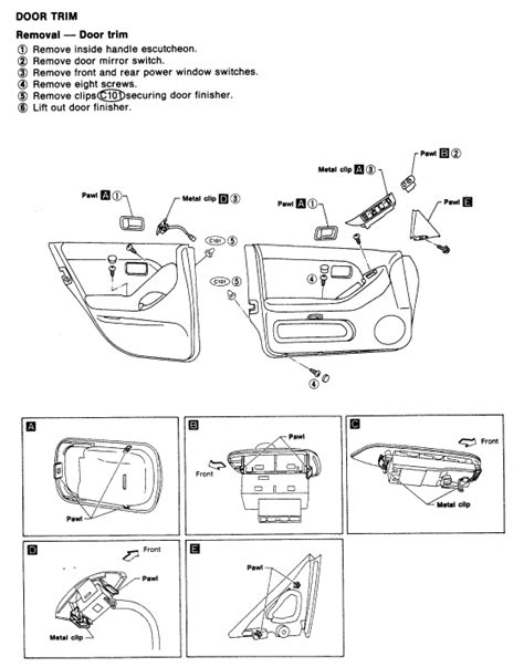 how it works cars 1993 infiniti j windshield wipe control service manual 1993 infiniti j door panel removal instructions window crank how to install