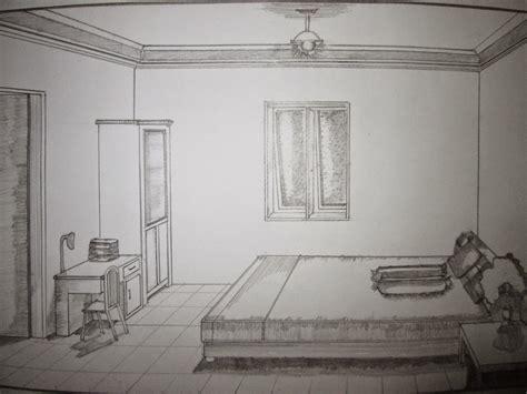 desain interior kamar tidur sketsa dekorhom