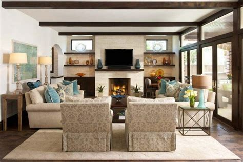 layout living room with fireplace and tv 32 spectacular living room designs with exposed beams