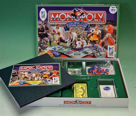 Aristeia Limited Edition Board 1999 rugby world cup monopoly limited edition board
