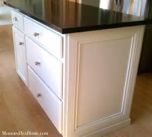 Kitchen Island Molding Before After Painting A Kitchen Island On A Budget Modern Hen Home