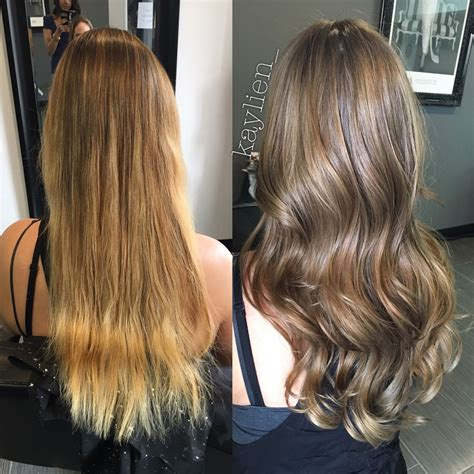 add warmth to blonde from golden blonde to a natural light ash brown olaplex
