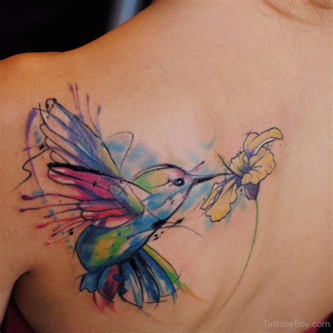 pretty back tattoos hummingbird tattoos designs pictures