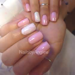 color powder nails happy light pink gel nail color with shinny