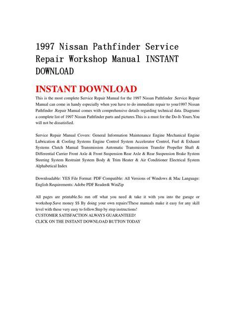 free download parts manuals 1997 nissan pathfinder parking system 1997 nissan pathfinder service repair workshop manual instant download by jjfhsbebf issuu