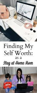 finding self worth as a stay at home the write balance