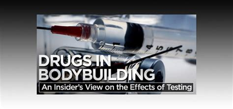 Drugs In Bodybuilding: An Insider's View On The Effects Of