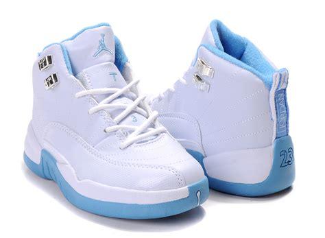 air 12 white baby blue children air 12 white cambridge blue shoes aj