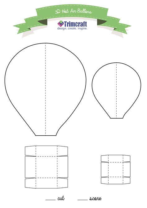 Paper Air Balloon Template 3d air balloons with printable template the craft