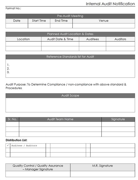 Internal Audit Report Sle Free audit form template exle mughals