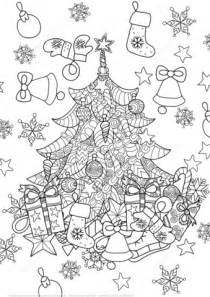 weihnachtsbaum ausmalbild tree zentangle coloring page free printable