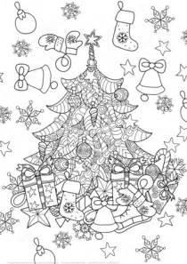 clipart natale da colorare disegno di albero di natale zentangle da colorare