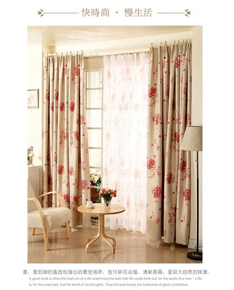 country bedroom curtains french country roses blockout curtain custom made bedroom
