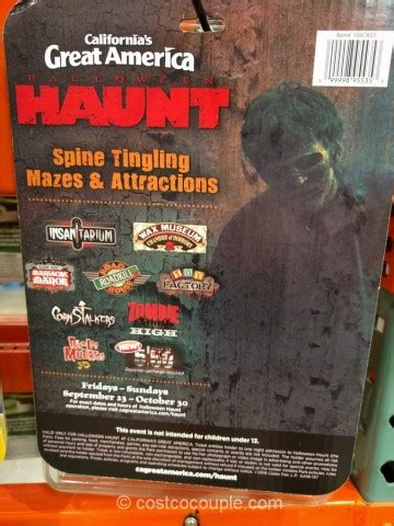 collection of great america halloween haunt ticket prices