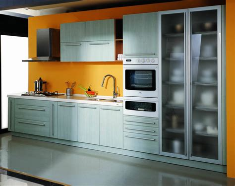Melamine Kitchen Cabinet by China Pvc Kitchen Cabinets Pa4002 China Kitchen