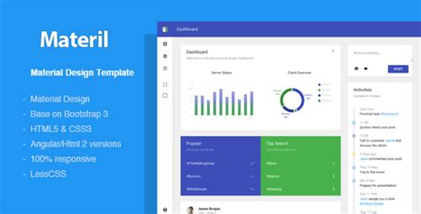 Materil Angular Material Design Admin Template By Flatfull Themeforest Material Design Website Template