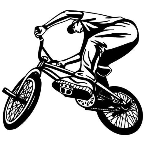 Dirt Bike Wall Stickers bmx bike riding clipart vinyl cutter plotter images vector