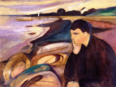 E Painting Meaning by Melancholy Edvard Munch