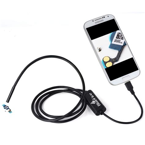 Android Endoscope Ip67 Waterproof For Hitam 1280x480 7mm 7mm android endoscope ip67 waterproof usb inspection snake 2m cable for samsung