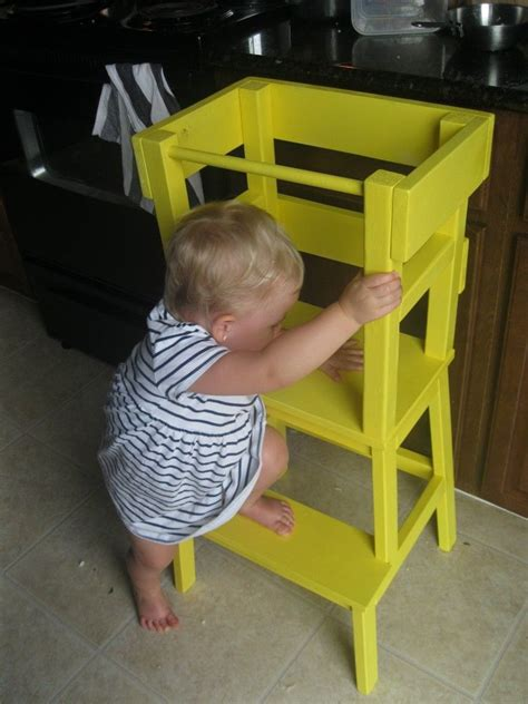 ikea step stool kid diy montessori learning tower the cutest ikea hack ever