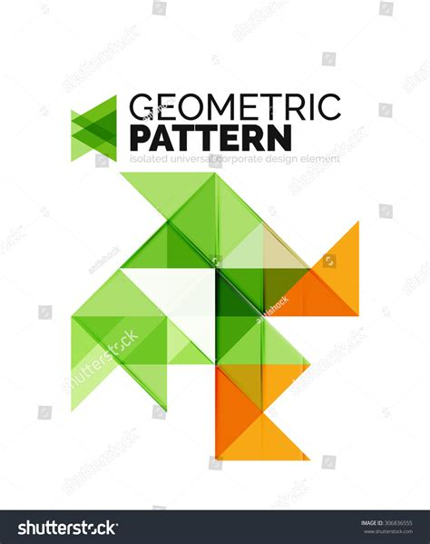 geometric pattern app geometric triangle mosaic pattern element isolated on