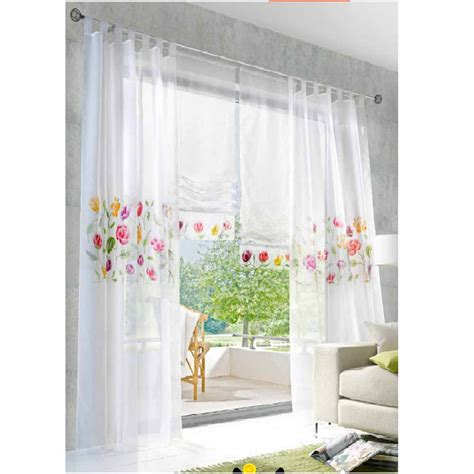 sale modern curtains for kitchen embroidered voile