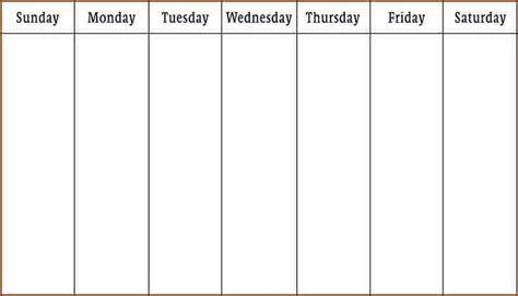 1 week calendar template business proposal templated