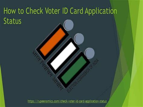 how to make a voter id card how to check voter id card application status authorstream