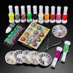 nail decoration kit glue rhinestones clipper