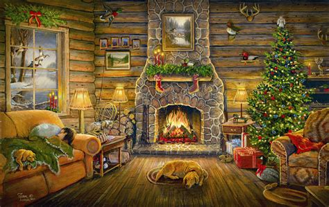 Warm And Cozy Wildlife holiday rest 550 piece puzzle sam timm sunsout jigsaw puzzle