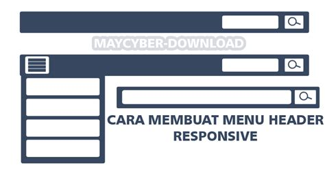 membuat menu wordpress responsive cara membuat menu header plus tombol search responsive