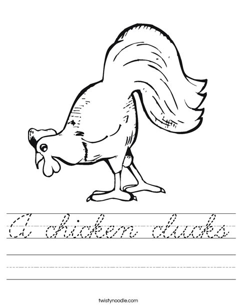 turkey trouble coloring page a chicken clucks worksheet cursive twisty noodle