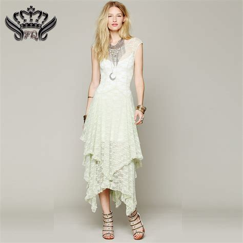 maxi dress summer boho hippie style asymmetrical