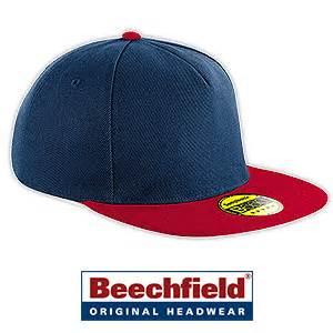 Snapback Design Vorlage Beechfield Original Flat Peak Snapback Caps Mit Stickerei