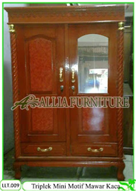 lemari triplek klender motif mini kaca allia furniture