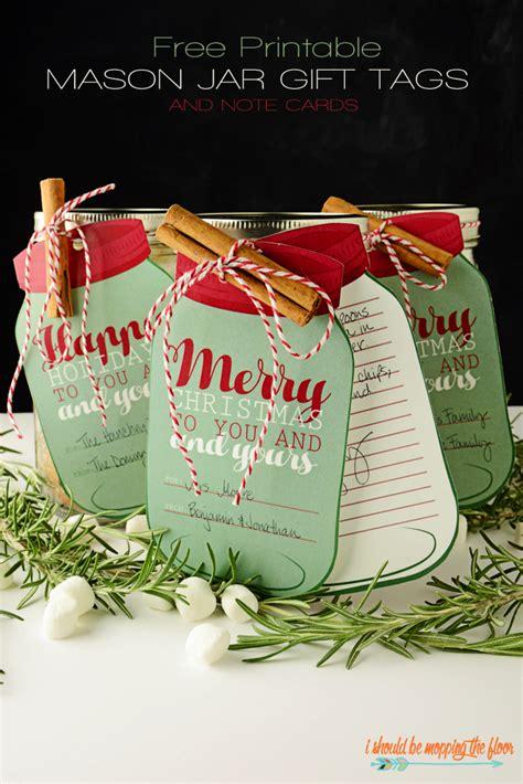 printable christmas tags for mason jars mason jar christmas gifts