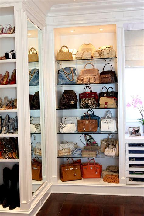 Bags Closet by Handbag Storage Ideas Modern Magazin