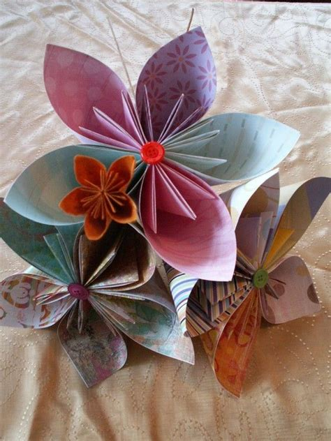 Origami Flowers Wedding - 50 best origami for your wedding seating plan images on