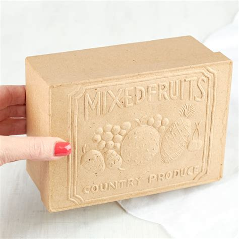 embossed craft paper paper mache embossed quot mixed fruits quot box paper mache