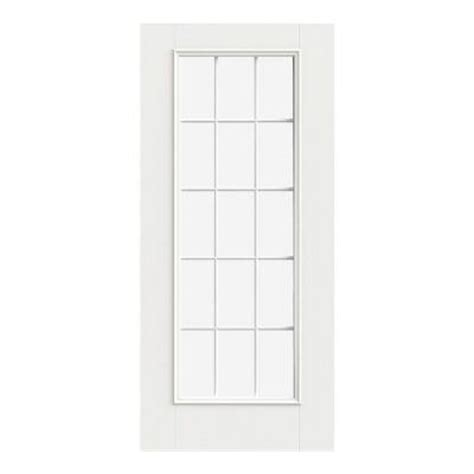Jeld Wen 32 In X 80 In Smooth Pro 15 Lite Primed White 15 Lite Exterior Door