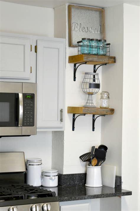 reclaimed wood kitchen shelves diy reclaimed wood kitchen shelves h20bungalow